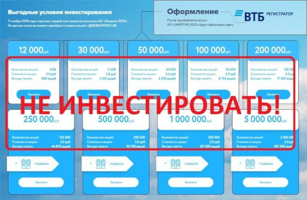 Энергия 2020 (denistiaglin.com) — отзывы о проекте Energy 2020